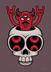 skull demon devil possessed monster horns horror exorcism satan haunt