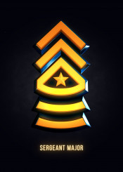 games gamers play videogames fanart arts military insignia 3d sergeant major