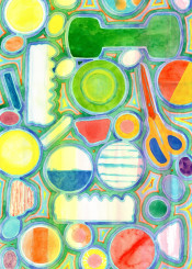 pattern colorful shapes cool scissors circle circles geometric geometry geometrical translucent watercolor picturesque fun happy