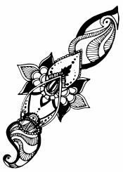 south asian body black white henna mehndi mehendi india ancient indian tattoo traditional
