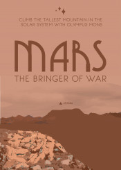 science space travel posters deco mars
