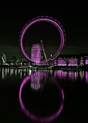 black purple circle city lights