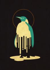 melt pinguin illustration surreal fantasy inspiration minimalist retro classic vintage