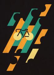 vintage classic retro bike color urban abstract