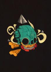 mexico mask illustration modern vector cool gothic skull skullhead