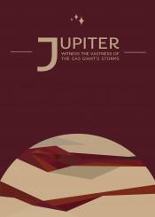 space travel vintage jupiter