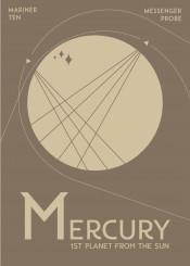 space deco science travel mercury