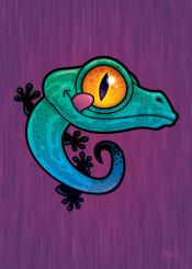 gecko animal bright cartoon cute reptile colorful lizard