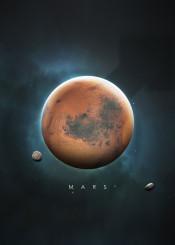 space universe solar system minimalistic minimalism planets science stars moon symbol nature mars phobos deimos