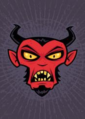 monster goatee hell demon evil horn satan cartoon devil halloween horror spooky scary mean mad angry