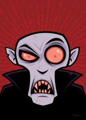 monster vampire dracula cartoon nosferatu fangs halloween dead scary spooky count