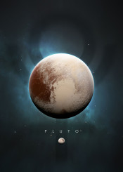 space universe solar system minimalistic minimalism planets science stars moon symbol nature pluto charon dwarf