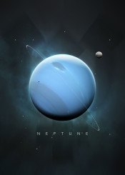 space universe solar system minimalistic minimalism planets science stars moon symbol nature gas giant neptune