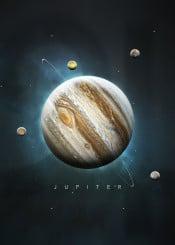 space universe solar system minimalistic minimalism planets science stars moon symbol nature jupiter gas giant