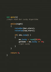 text typo code c cplusplus language programmer get lucky daft punk algorithm