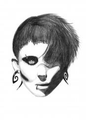 dragon girl tattoo movies punk gothic dark illustration woman lady hacker