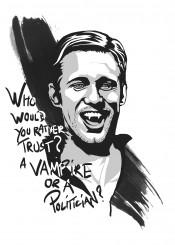 true blood vampire tv shows films movies black white alexander skarsgard eric northman