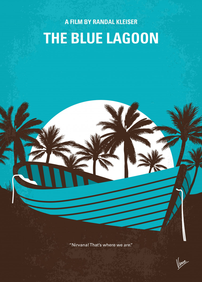 No871 My The Blue Lagoon minimal movie poster