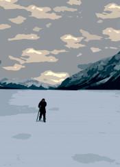 revenant leonardo decaprio winter lake mountain tom hardy