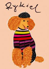 rykiel soniarykiel dog poodle puppy beret