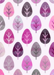 painting nature pattern watercolor leaf leaves pink forest lovely spring blossom flowers floral tropical subtropical plant