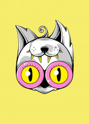 cat alien cute funny weird nerd dork beauty