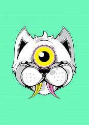 cat animal alien cute pet eye illuminati wild