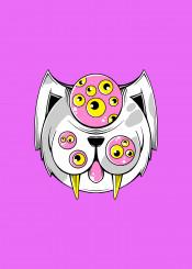 cute cat animal alien weird dork nerd monster