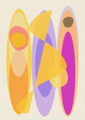 surf surfing decoration abstract colorful shapes forms