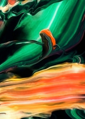 painting abstract green black orange colorful abstractpainting brushstroke modern piaschneider wallart modernart bold