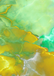abstract painting yellow green turquoise abstractpainting acrylic modern wallart piaschneider colorful bold