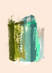 painting abstract abstractpainting brushstroke pale pink green blue strokes modern modernart wallart piaschneider