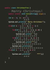 christmas tree text typo code language programmer java algorithm holiday