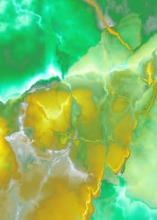 abstract painting acrylic green yellow colorful bold abstractpainting turquoise piaschneider modern wallart lightning