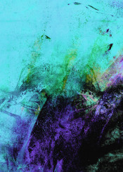 painting abstract acrylic purple black turquoise coloful bold modern expressionism piaschneider ateliercolourvision brushstrokes strokes wallart abstractpainting blue lilac violet