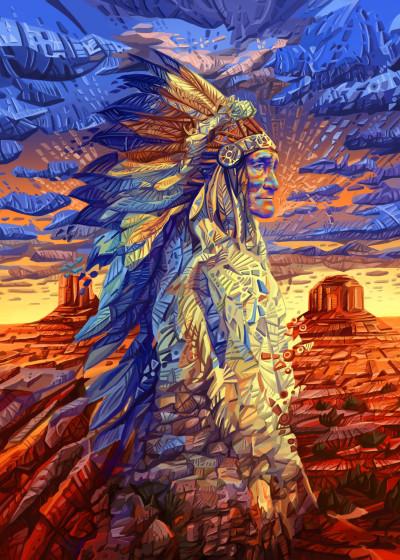 bekim mehovic Native Art   Displate Prints on Steel