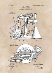 patent patents power hammer machine decor decoration illustration