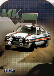 escort racing cars car ford mk2
