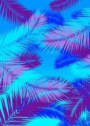 blue island summer tropical palm leaves leaf home decor giftsforher travel pop design campus dorm teen shopping online colors colorful