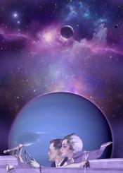 collage adventures retro space ultraviolet ultra violet jacaranda stars planet purple lavender lovers blue scifi planets car nebula neptune trip travel decor