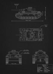 pzkpfw iii ausf l panzer tank weapon war world german illustration blueprint schematic design black white