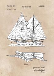patent patents model sailing ship decor decoration illustration sea water