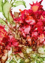 nature flower cactus ink original painting