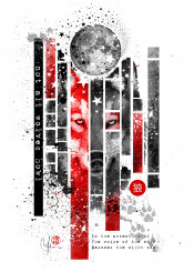wolf moon howl night moonlight stars red black