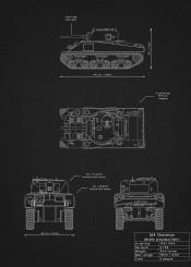 m4 sherman tank military armor armour weapon panzer army war black white illustration blueprint blackprint schematic patent design