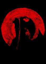 red sun ink inking devilman devil crybaby crimson eye blood circle minimal fanfreak anime manga japanese japan netflix devils wings kill humans