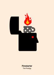 prodigy firestarter fire zippo lighter minimal pictogram