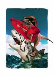 dinosaur shark ocean goldhart