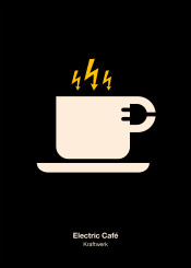 kraftwerk electric cafe coffee electricity mug cup warning