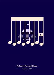 johnny cash folsom prison blues rock music prisoner tones chords minimal pictogram